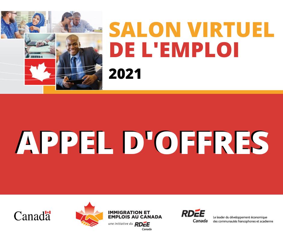 Appel d'offres – Organisation d'un Salon virtuel de l'emploi