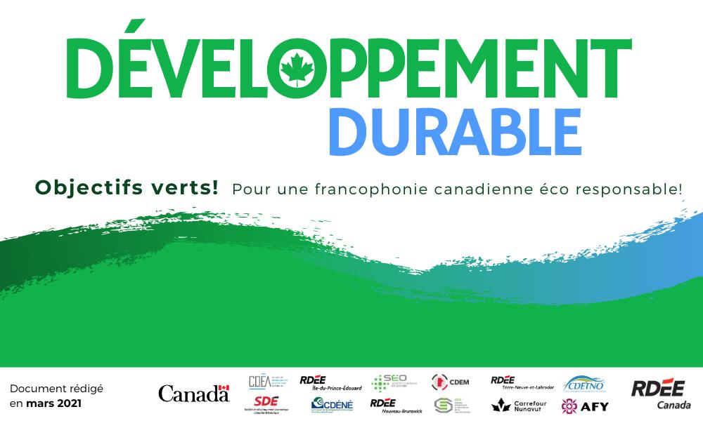 Brochure des projets en développement durable!