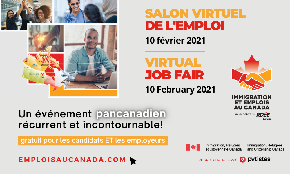 Inscriptions Salon virtuel de l'emploi 2021