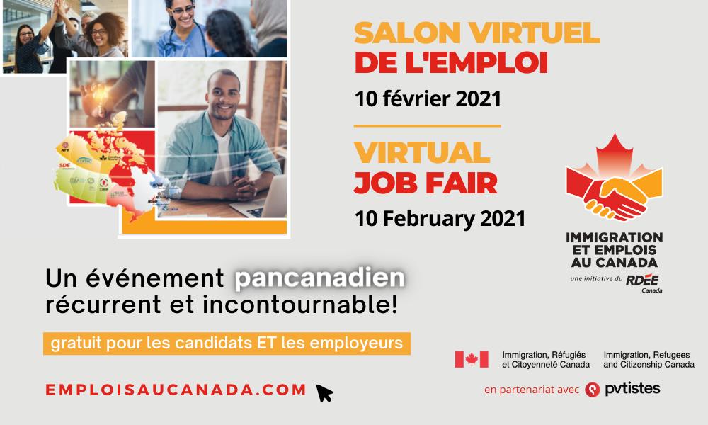 Inscriptions Salon virtuel de l'emploi 2021