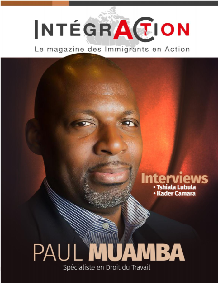 Paul Muamba, en couverture du magazine Intégr'Action!