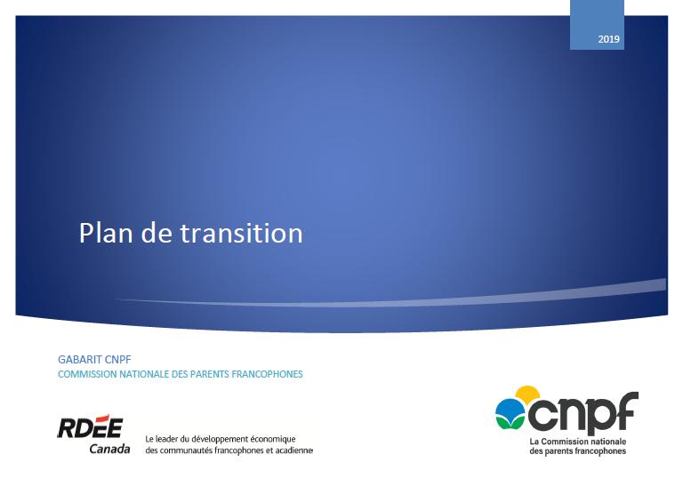 Plan de transition en petite enfance (gabarit CNPF)