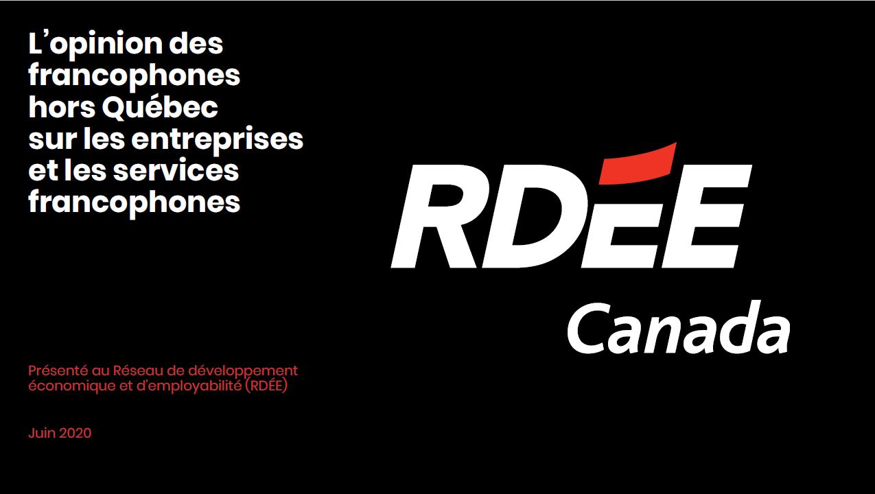 Sondage sur l'opinion des francophones sur les entreprises et les services en français