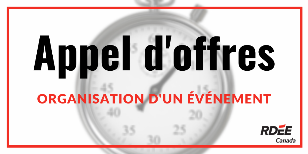 Appel d'offres – organisation d'un événement 48 h Top Chrono